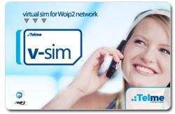Telme V-SIM for mobile free calls worldwide